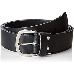 shenky Cinturón de cuero - 4 cm de ancho - Para cinturas de 100 a 170 cm - Negro - 125 cm