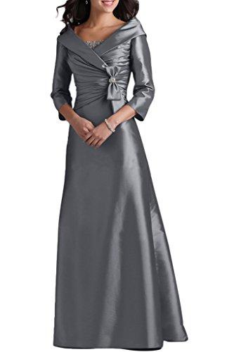 Ivydressing Damen Liebling 3/4 Aermel V-Ausschnitt A-Linie Lang Taft Abendkleid Mutterkleid...