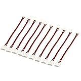 XKTTSUEERCRR 10 piezas 2-pin PCB LED Conector Adaptador Conectores de Tira 10mm Amplia para tira de 5050 LED monocromo