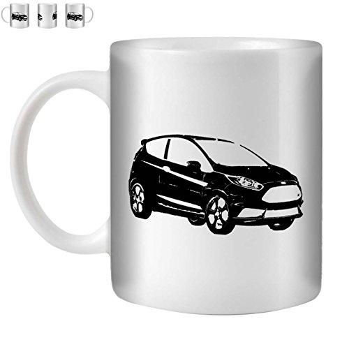 STUFF4 Tee/Kaffee Becher 350ml/Schwarz/13 Fiesta ST/Weißkeramik/ST10 -