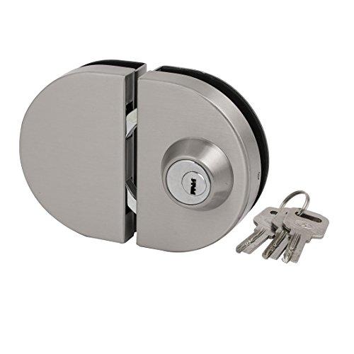 as Dicke Ovale Form drücken ziehen Schiebetürschloss Set Silber DE de ()