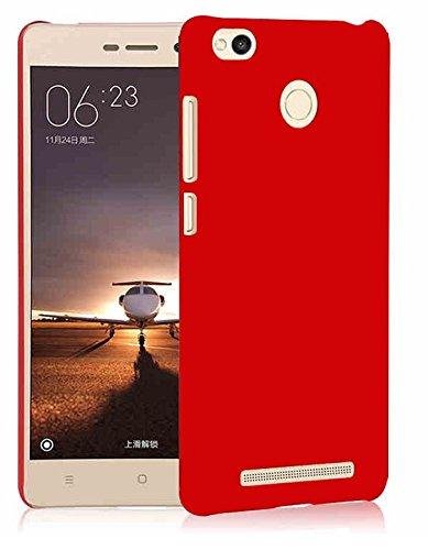 Wow Imagine™ Rubberised Matte Hard Case Back Cover for XIAOMI MI REDMI 3S Prime - Maroon Wine Red