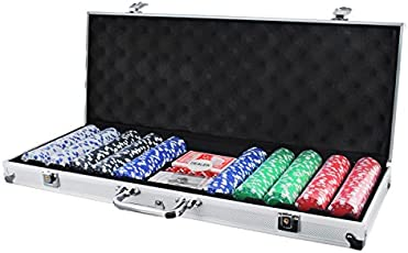 Iso Trade Pokerkoffer mit 500 Chips Pokerset Poker Set Koffer 11,5g Jetons Casino #1754
