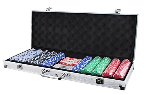 Pokerkoffer mit 500 Chips Pokerset Poker Set Koffer 11,5g Jetons Casino #1754