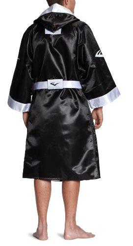 Everlast Erwachsene Bekleidung Satin Full Length Boxing Robe with Hood Black/White