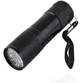 Lumière Ultra Aluminium Uv De Lampe Noire Violet Poche 9 Led Mini Fc1JlTK