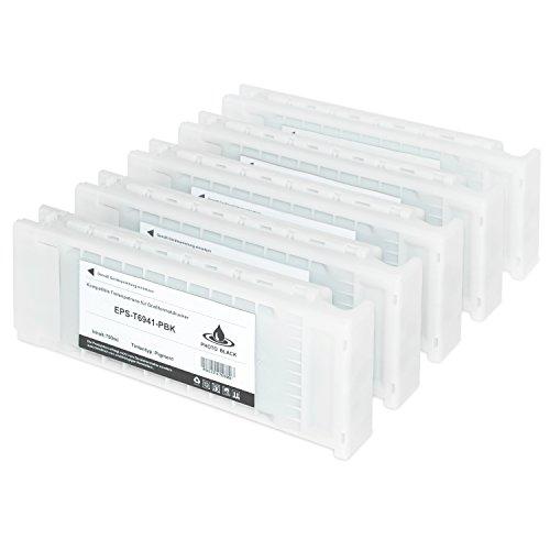 Preisvergleich Produktbild 5 Tintenpatronen für Epson SureColor C13 T6941 T6942 T6943 T6944 T694500 SC-T 3000 3200 5000 5200 7200 3270 5270 7270 D-PS POS Series W/O Stand - je 700ml