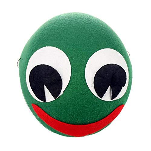 Toruiwa Halloween Mütze Unisex Süßes Tier Kostüm Hut Kinder für Halloween Geburtstag Cosplay Party Karneval Fasching 19.5 * 8.5cm (Frosch)