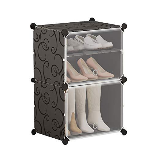 Xiuyun Porte-chaussures modulaire cube organisateur de chaussure emboîtable pour le placard couloir chambre (Couleur : A, taille : L)