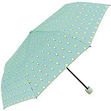 Paraguas Plegable Mujer - Mini Paraguas con Dibujos - Resistente Compacto y Antiviento - 97 cm