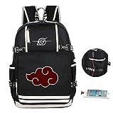 Cosstars Naruto Anime Backpack Cartella Borsa da Scuola Studente Laptop Zaino con Porta di Ricarica USB /25