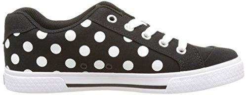 DC Shoes Chelsea Tx Se, Basses femme Noir (Black/White Print)