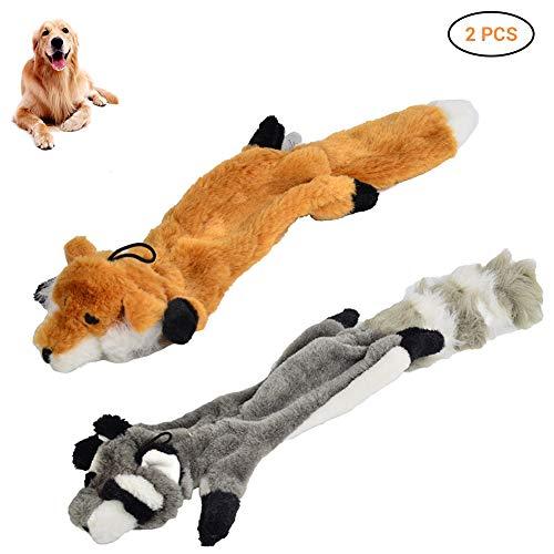 Hihey Hund Kauen Spielzeug Waschbär Fox Stimulation Tierhaut Welpen Sound Spielzeug Quietschende Kauen Haustier Hund Spielen Spielzeug 2 ()