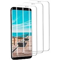 ASA-Y Verre Trempé Samsung Galaxy S8, [3 Pièces] Protecteur d'écran en Verre Trempé Transparent Anti-Rayures Protecteur d'écran Transparent Verre pour Galaxy S8
