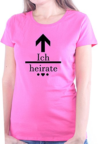 Mister Merchandise Ladies Damen Frauen T-Shirt JGA - Ich heirate�? Tee Mädchen bedruckt Pink