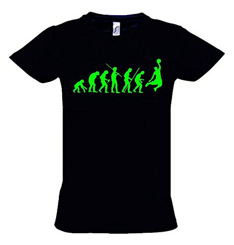 BASKETBALL Evolution Kinder T-Shirt schwarz-green, Gr.164cm