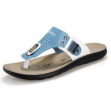 Sommer Sandalen Herren Schuhe Casual Hausschuhe Blau/Orange Blau