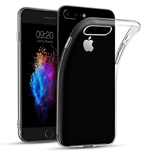 Bodyguard Hülle für iPhone 7 Plus / 8 Plus, [Crystal Clear] Transparent TPU Silikon Handyhülle, Ultra Dünn Soft Schutzhülle, Durchsichtige Weiche Rückschale Case Cover für iPhone 7 Plus 8 Plus -