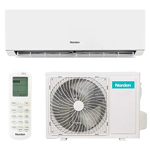 Norden Klimaanlage | Energiesparendes Split-Klimagerät mit A++ Energieeffizienzklasse | Wand-Klimaanlage mit Invertergerät und Fernbedienung für alle Raumgrößen (2,6 kW)