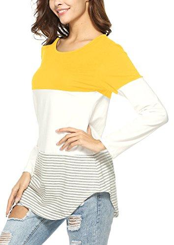 Twippo Camisa Mujer Invierno 2018 Amarillo S