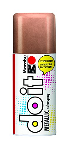 Marabu 21074006787 - Do it Metallic, Colorspray auf Acrylbasis für edle Metalleffekte, styroporfest, sehr schnell trocknend, sehr gute Deckkraft, wetterfest, 150 ml Sprühdose, metallic kupfer