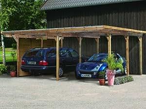 CARPORT ECO 1 DOUBLE Karibu bois 563 x 490 x 229cm Karibu 62035