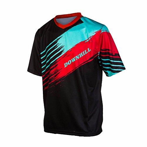 ommer Short Sleeve Jersey Frühlingsart Motocross Jersey Herren Mountain Bike Downhill Shirt Sportbekleidung Kleidung ()