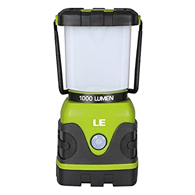 LE Outdoor LED Lantern,1000lm, Dimmable, Battery Powered, Water Resistant, Camping Gear Equipment Flashlight Lanterns, Tent Lights for Hiking, Emergencies, Hurricanes, Outages - low-cost UK light shop.