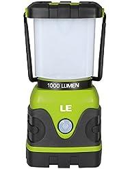 LE Farol de Camping LED 1000 lúmenes Regulable, 4 modos, Lámpara para Pesca, Excursión, Jardín, Patio