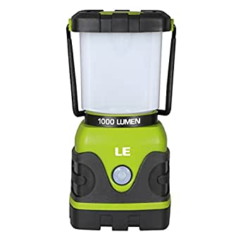 LE Outdoor LED Lantern Dimmable 1000lm Battery Powered Water Resistant Camping Gear Equipment Flashlight Lanterns Tent Lights for Hiking Emergencies Hurricanes Outages