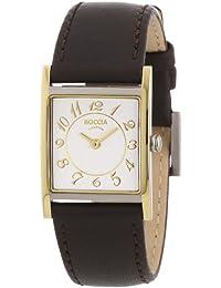 Boccia B3163-02 - Reloj de mujer de cuarzo, correa de piel color marrón