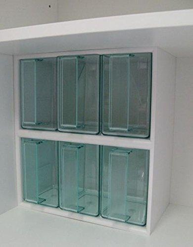 Cassettiera da cucina, con 6 cassetti, colore: bianco