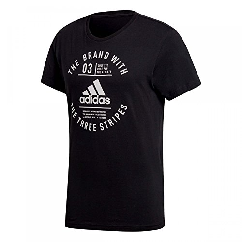 adidas Emblem, T-Shirt Herren XL schwarz (T-shirt Emblem Schwarz)