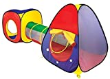 Quickdraw Adventure 3 Piece Indoor & Outdoor Childrens Playhouse Ball Pit Play Shuttle Tunnel & Tent