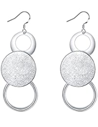 Yellow Chimes Celebrity Choice Collection Silver Plated Drop Earrings For Women (Silver)(YCFJER-123CRC-SL)