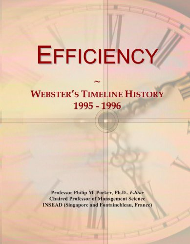 Efficiency: Webster's Timeline History, 1995 - 1996