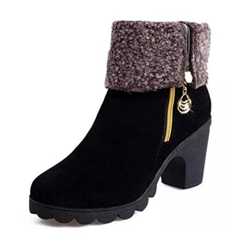 QPYC Scarpe alti delle scarpe da donna dei caricamenti del sistema dei caricamenti del sistema dei caricamenti del sistema laterali black cotton