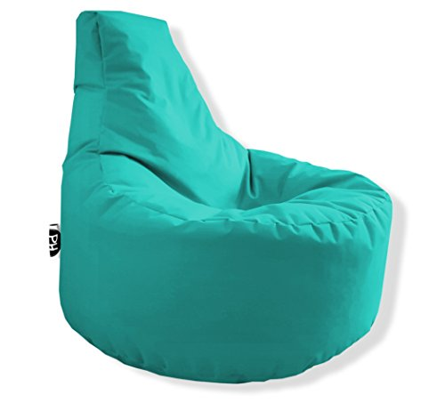 Patchhome Gamer Kissen Lounge Kissen Sitzsack Sessel Sitzkissen In & Outdoor geeignet fertig befüllt - Türkis - in 25 Farben