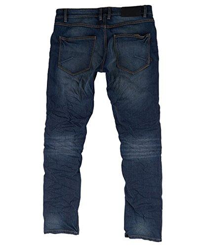 SOLID Herren Jeans Joy Stretch Hose Pants Herrenjeans Slim Fit Herrenhose blau mittelhoher Bund Dark Used