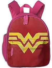 Wonder Woman Mochila Escolar con Logo Impreso para niñas y niños