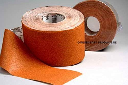 1 Rolle Schleifpapier P120, 115mm, 50m, rot