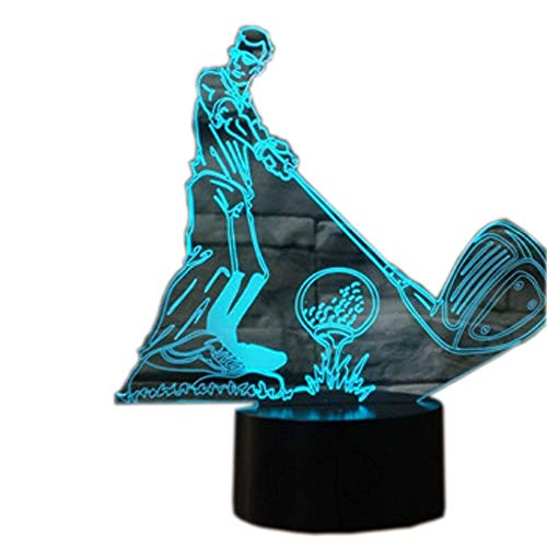 3D Illusion Lampen Golf 7 Farben Led Nachtlicht Touch-Schalter Schlafzimmer Schreibtisch Beleuchtung für Kinder Geschenke Haus Dekoration