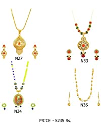 Fashion For Sure Combo Set Of Beautiful Necklaces For Lovely Womens & Girls (Combo0.16)