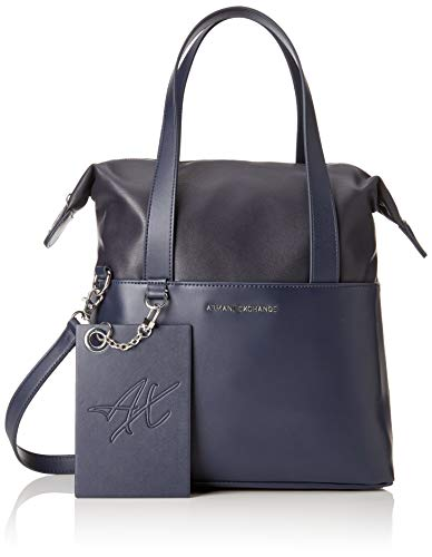 ARMANI EXCHANGE Small Shopping Bag - Borse a spalla Donna, Blu (Blue Angel), 29.0x12.0x44.0 cm (B x H T)