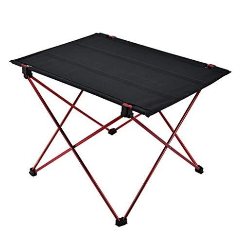 RLY Tabelle im Freien, helles rutschfestes faltendes Schreibtisch-bewegliches faltbares kampierendes Möbel-Computer-Tabellen-Picknick (Color : Red, Size : L) -