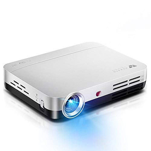 Wowoto Mini beamer, 3D Full HD projector, 1280 x 800, ondersteunt 1080p DLP-projector, Android OS, met opzetstuk, HDMI, wifi & Bluetooth