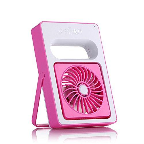 ventilatore portatile USB ventilatore ricaricabile piccolo ventilatore , pink