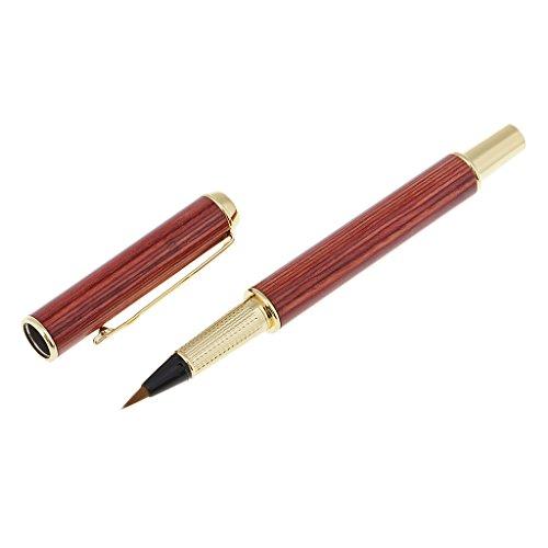 D DOLITY Holz Füllfederhalter Pinsel Stift Tasche Pinsel Stift Kugelschreiber für Souvenirs und Geschenke