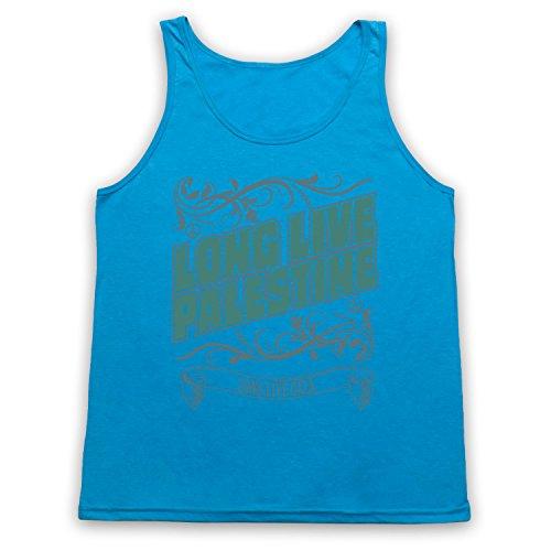 Long Live Palestine Long Live Gaza Tank-Top Weste Neon Blau