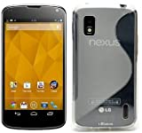 Bingsale® TPU Skin Case Google Nexus 4 E960 Smartphone Silikon Tasche Hülle - Silicon Protector Schutzhülle Cover Etui Transparent Clear